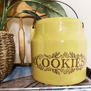 Vintage Golden cookie jar